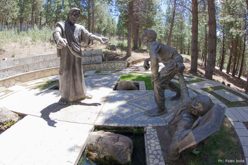 Jesús cura al hombre manco Vía Christi