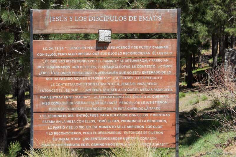 Jesús y los discípulos de Emaús Vía Christi